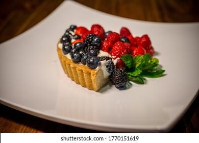Beautiful berry tart tasty dessert