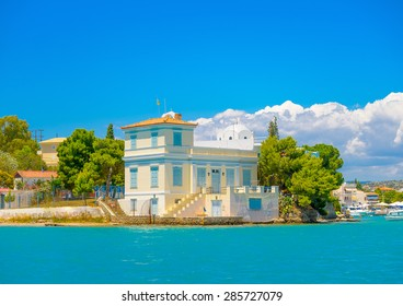 beautiful big house by the sea in Spetses island in Greece