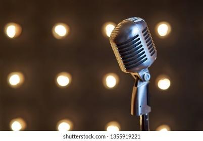 beautiful big microphone