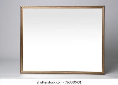 Beautiful big mirror on light background