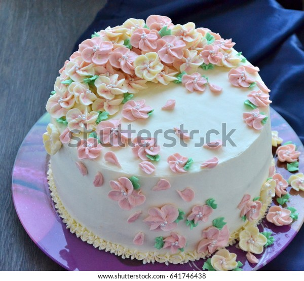Beautiful Birthday Cake Stock Photo (Edit Now) 641746438