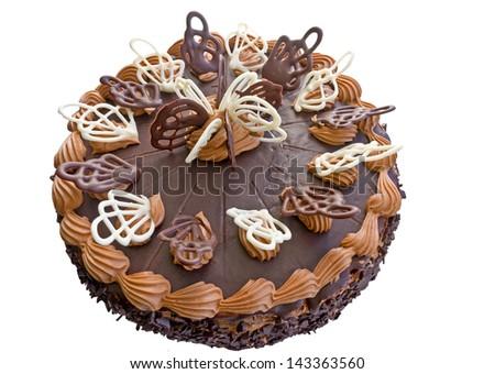 Beautiful Birthday Chocolate Cake Stock Photo Edit Now 143363560