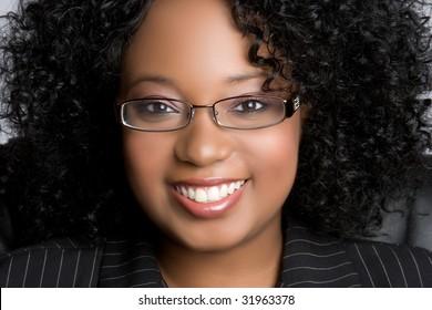 Beautiful Black Businesswoman Smiling