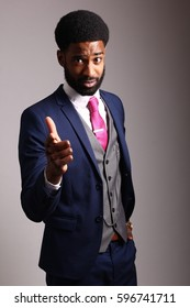 Beautiful black fashion man