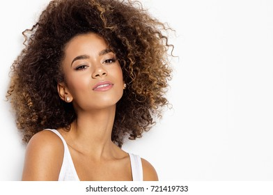 Beautiful black female model