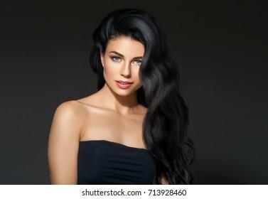 Beautiful Black Hair Woman Beautiful Portrait Stock Photo Edit Now