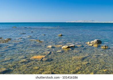 Beautiful Black Sea in Crimea, Ukraine.
