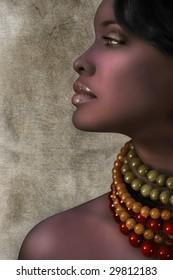 Beautiful black sexy woman