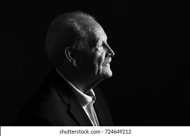 Beautiful black and white portrait from Grandpa