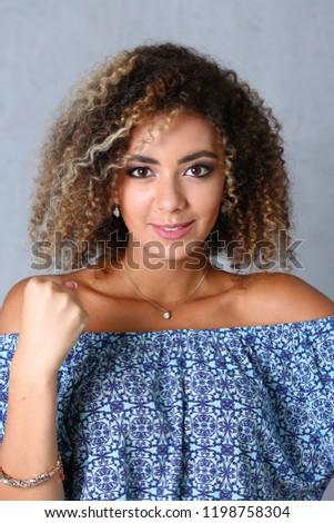 Beautiful Black Woman Portrait Fists His Stock Photo Edit Now