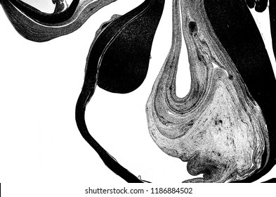 Beautiful Black&White ocean- ART. Natural Luxury. Style incorporates the swirls of marble or the ripples of agate. Very beautiful monochrome paint with the addition of silver powder.