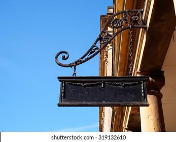 beautiful blank signboard in Ancient Roman style