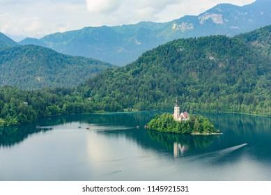 Beautiful Bled Lake at Slovenia