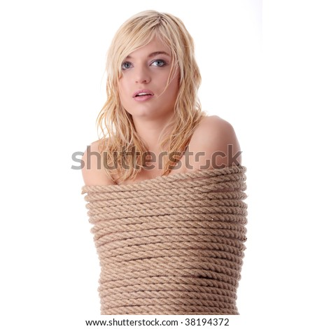 Beautiful Blond Girl Tied Rope Kidnapping Stock Photo (Edit Now ... 258dfbd7b