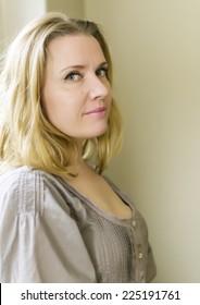 Beautiful blond mature woman