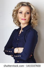 beautiful blond woman personal branding corporate business portrait