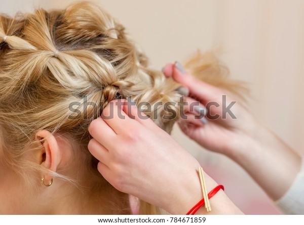 Stupendous Beautiful Blonde Girl Beautiful Neat Hairstyle Stock Photo Edit Natural Hairstyles Runnerswayorg