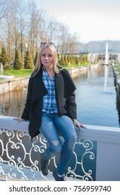 beautiful blonde girl saint petersburg