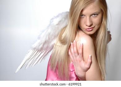 Beautiful blonde like white angel