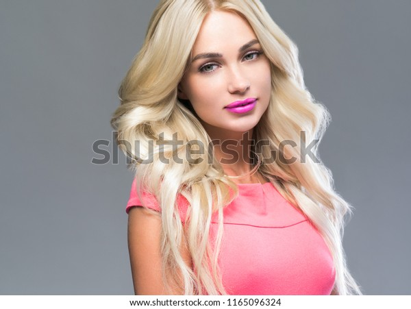 Hot blonde woman