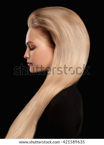Beautiful Blonde Wonderful Hairgirl Blond Hair Stock Photo Edit Now