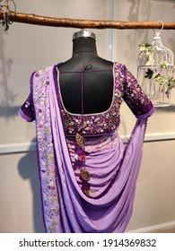 Beautiful blouses hand embroidered for women in saree