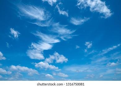 Beautiful blu sky and cloud