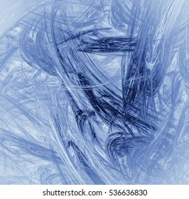 Beautiful blue background with abstract flower or snowflake. Colorful texture for design uses.