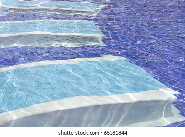 Beautiful blue background of a blue water pool
