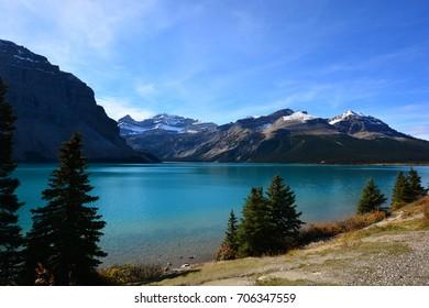Beautiful Blue Bow Lake