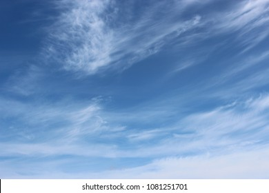 Beautiful blue cloudy sky.