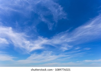 beautiful blue cloudy sky, natural background