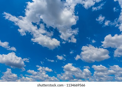 beautiful blue cloudy sky natural background