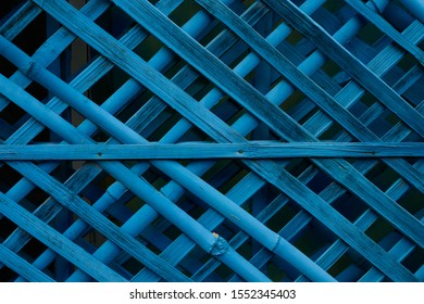 Beautiful Blue color bamboo wood wall texture pattern background