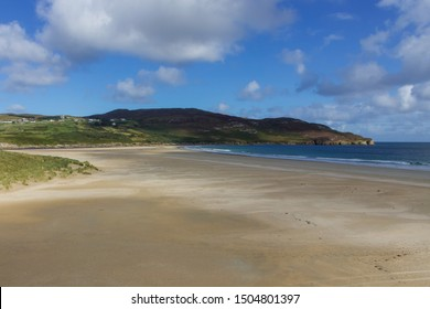Beautiful Blue Flag Beach, Killahoey Strand near Dunfanaghy, Donegal, Ireland