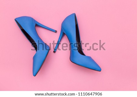 e2f902ea1c Beautiful Blue High Heels Shoes Isolated Stock Photo (Edit Now ...