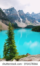 Beautiful blue lake in the summertime