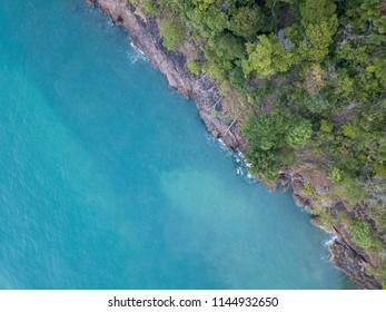 Beautiful blue ocean and seashore
