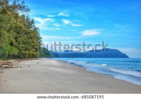 Beautiful Blue Sea Tropical Maldive Romantc Stock Photo Edit Now