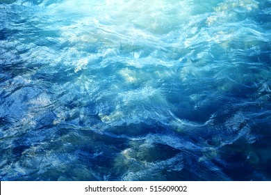 Beautiful blue sea wave photograph close up