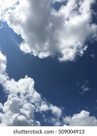 Beautiful blue sky background with white clouds.