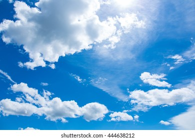 Beautiful blue sky with with cloud