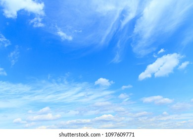 Beautiful blue sky with clouds .