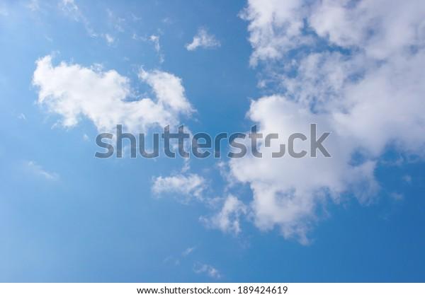 beautiful-blue-sky-clouds-600w-189424619