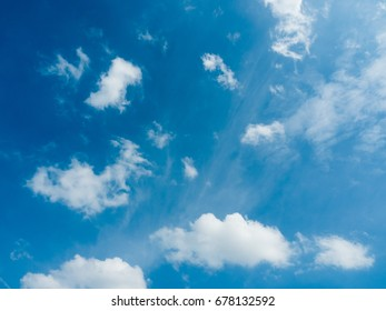 beautiful blue sky with clouds in the afternoon