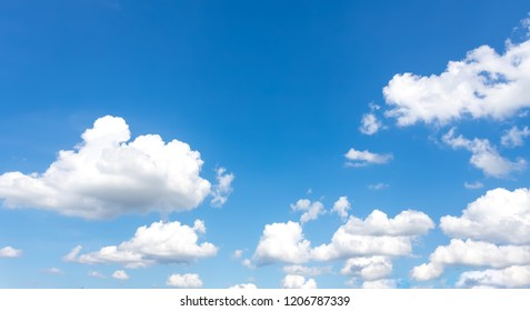 Beautiful blue sky with clouds in background.