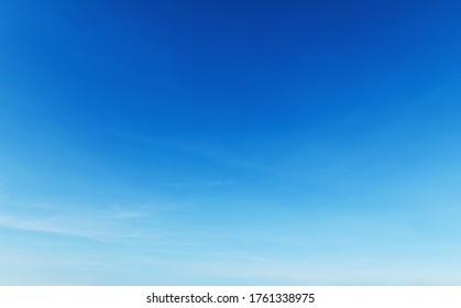 beautiful blue sky with cloudy in mornig light