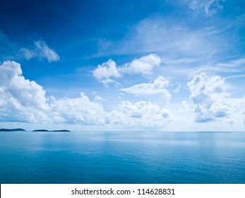 Beautiful blue sky sea view