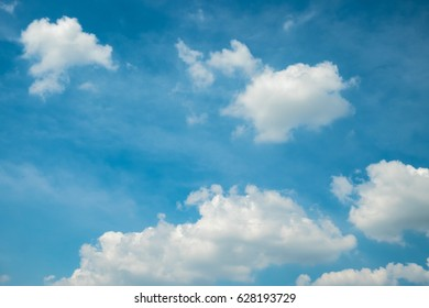 Beautiful blue sky and white cloud.