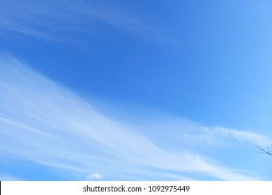 Beautiful blue sky and white clouds like a painting in sunny day with sun light